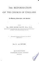 The Reformation of the Church of England  A  D  1547 1662 1882