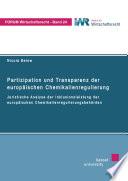 Partizipation und Transparenz der europäischen Chemikalienregulierung