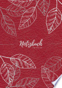 Notizbuch Tagebuch A5 Liniert 100 Seiten 90g M2 Soft Cover Silberne Bl Tter Auf Rot Fsc Papier