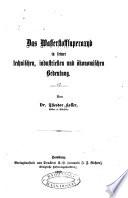 Das Wasserstoffsuperoxyd in seiner technischen, industriellen und ökonomischen Bedeutung