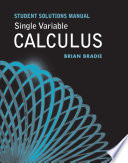 Single Variable Calculus Student Solutions Manual