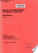 Methanol Fuel Modification for Highway Vehicle Use