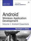 Android Wireless Application Development  Android essentials