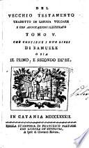 Il Pentateuco  o sia  i cinque libri di Mos