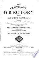 The Cleveland Directory Company s Cleveland City Directory
