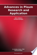 Advances in Pisum Research and Application  2012 Edition