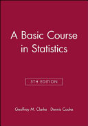 A Basic Course in Statistics