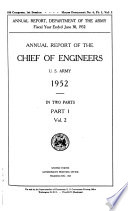 Annual Report Of The Chief Of Engineers U S Army