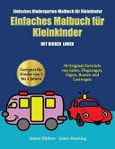 Einfaches Kindergarten-Malbuch für Kleinkinder