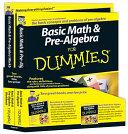 Basic Math and Pre Algebra For Dummies Education Bundle