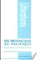 Des provinciales au Pacifique