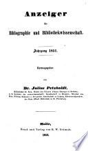 Anzeiger für Bibliographie und Bibliothekwissenschaft