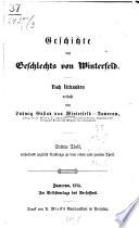 Geschichte des Geschlechts von Winterfeld