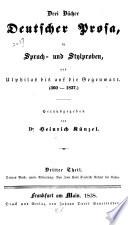 Drei Bücher deutscher Prosa