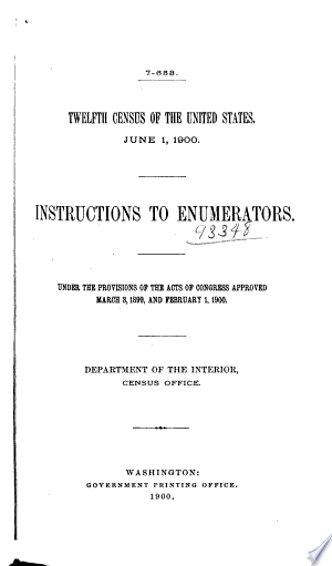 Instructions to Enumerators