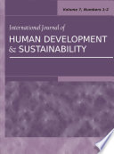 International Journal of Human Development and Sustainability