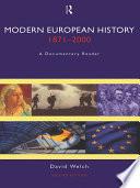 Modern European History 1871 2000