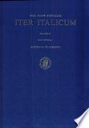 Iter Italicum: en 2 vol. : (Alia itinera 1) : Australia to Germany