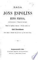 Saga Jón Espólíns hins fróða