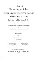 Index of Economic Articles in Journals and Collective Volumes