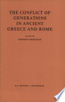 The Conflict of Generations in Ancient Greece and Rome