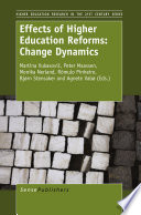Effects of Higher Education Reforms  Change Dynamics