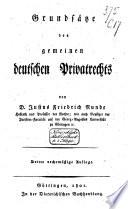 Grunds  tze des gemeinen deutschen Privatrechts