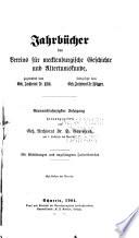 Jahrb  cher des Vereins f  r Meklenburgische Geschichte und Alterthumskunde