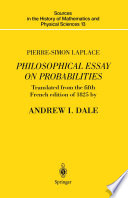 Pierre Simon Laplace Philosophical Essay on Probabilities
