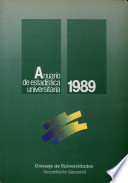 Anuario de estadística universitaria 1989