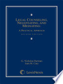 Legal Counseling  Negotiating  and Mediating