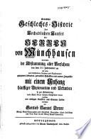 Gründliche Geschlechts-Historie des hochadlichen Hauses der Herren von Münchhausen ...