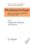 Musikalische Begabung und Expertise