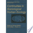 Continuities In Sociological Human Ecology book