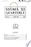 Sigma Xi Quarterly