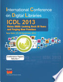 International Conference on Digital Libraries (ICDL) 2013