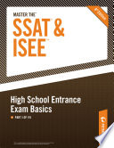 Master the SSAT ISEE  High School Entrance Exam Basics