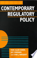 Contemporary Regulatory Policy