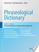 Phraseological Dictionary English   German