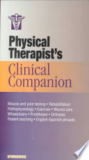 Physical Therapist s Clinical Companion