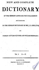 Neues und vollst  ndiges deutsch englisches W  rterbuch