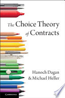 The Choice Theory of Contracts