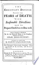 The Christian s Defence Against the Fears of Death