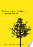 Doing Your Masters Dissertation