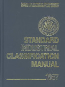 Standard Industrial Classification Manual  1987