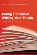 download ebook taking control of writing your thesis pdf epub