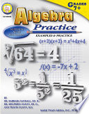 Algebra Practice Book  Grades 7   8