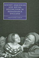 Sonnet Sequences and Social Distinction in Renaissance England