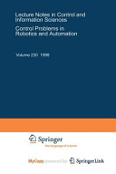 Control Problems In Robotics And Automation book