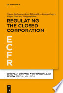 Regulating the Closed Corporation PDF